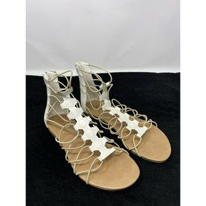 MIA White Gladiator Sandals   Size 8.5